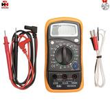 Multímetro Digital C/ Termômetro Profissional + Cabos E Capa