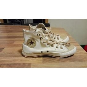 Zapatillas All Star Botitas Beige Marron Como Nuevas