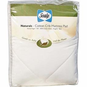 Sealy Naturals Cotton Protector Colchoneta Cuna Algodon