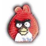 Aplique Angry Bird Rojo Tejido Al Crochet