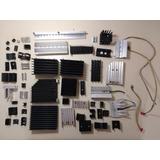 Lote De 53 Disipadores De Aluminio Y 6 Switch De Temperatura