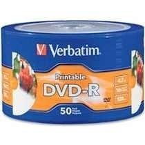 Dvd -r Verbatim 16x Printable Bulk X 50 Unid. Mar Del Plata