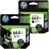 Combo Cartuchos Hp 664xl Negro + 664xl Tricolor - Originales