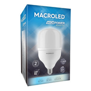 Macroled High Power Bulbón 40w Blanco Frío 6500k E27