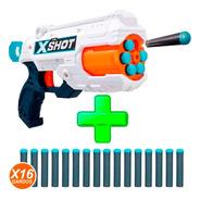 Pistola X-shot Reflex 6 + 8 Dardos + 3 Latas 20mts Zuru