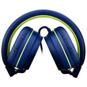 Headphone Pulse Fun - Emborrachado Azul E Verde Ph162