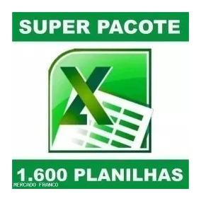 1600 Planilhas Excel 100% Editáveis 4