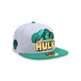 Boné New Era Marvel Hulk Aba Reta Cinza 5635 Original e1c36570e6e