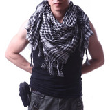 Hde Premium Shemagh Estilo Árabe Cabeza Cuello Bufanda - Bla