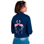 Camperas De Jeans Dama Con Bordado Talles 1 Al 5 Elastizadas