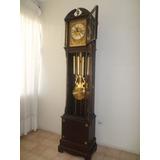 Antiguo Reloj Aleman Grand Father Bronce Y Cuerda Funciona