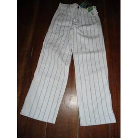 Figurinha Riachuelo - Calça Comprida Sarja Branca - Tam 6