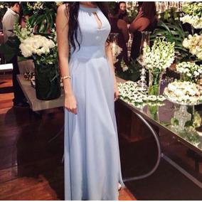 Vestido Longo Azul - Tamanho 38/40