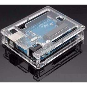 Case Gabinete Box Caixa Arduino Uno R3 Acrilico Transparente