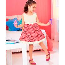 Vestido Para Niña Perla Y Coral Estampado 75036 Vicky Form