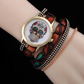 Relógio Caveira Mexicana Pulseira