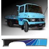 Faixa Decorativa Adesiva Caminhão Mercedes Benz 608 Azul 3m