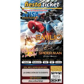 Invitaciones Spiderman Spider-man Hombre Araña Personalizada