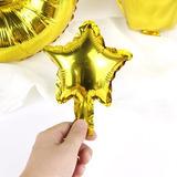 Globos Metalizados Estrella Dorada 13 Cm Fiesta Party Peq