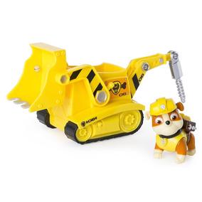 Maquina Excavadora Rubbles Color Amarillo Marca Paw Patrol