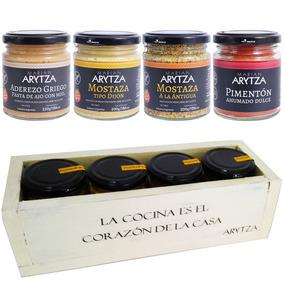 Cajita Gourmet - 4 Aderezos Arytza Select Para Regalar