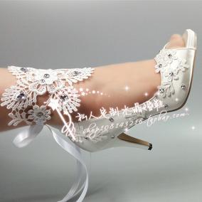 Sapatos Noiva Mulher Sapatos Casamento Laço Cetim Importado