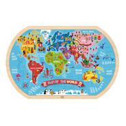 Puzzle Mapa Del Mundo Prescolar 37 Pcs