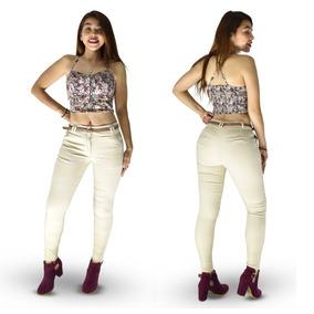 Pantalones Colombianos Jeans Dama Gabardina Push Up Strech