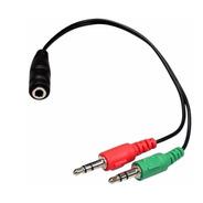 Cable Adaptador De 1 Plug Hembra A 2 Plug Macho 3.5mm