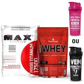 Combo Max Massa - Power Whey + Mass Titanium 3kg + Coq Moran
