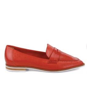 Sapato Schutz Mocassim Couro Vermelho S2022400010002u