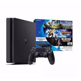 Nueva Playstation 4 Play4 Slim 500gb + 3 Juegos 6 Cuotas