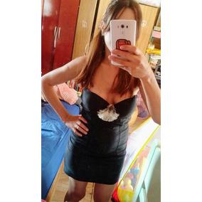 Vestido Corto Negro De Lycra Ideal Fiesta Allo Martinez