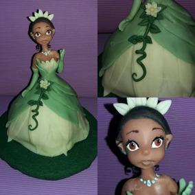 La Princesa Y El Sapo En Porcelana Fria, Adorno De Torta