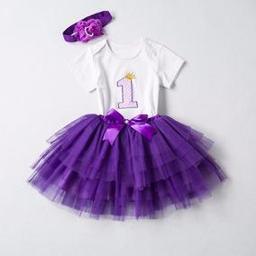 Conjunto Infantil Bebê Saia Tutu Body 1 Ano Fotos Aniversár
