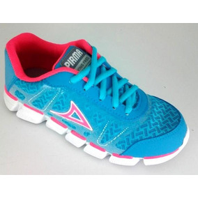 Tenis Para Niña Pirma 252 Textil Azul Rosa 18 Al 21.5