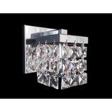 Arandela Quadrada Aço Inox/cristal Ar-1522