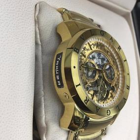 Relógio Modelo Bvgari Yakuza Automático Dourado (novo)