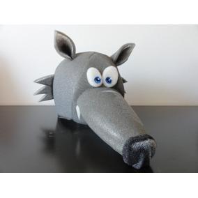 Gorro De Goma Espuma Cotillón Lobo Ratón