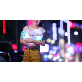 Corazon Almohada Luz Led Cojin Luminoso Romantico Novia