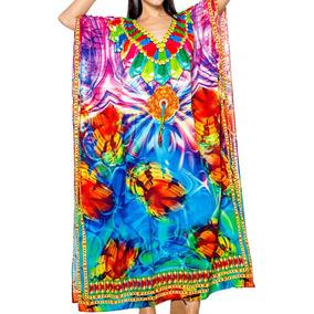 Vestido Maxi La Leela Likre Fiesta En Playa Largo Kaftan
