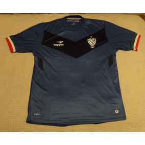 Camiseta Velez Sarsfield Azul Y Negra Marca Topper, Talle L