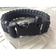 Bracelete Pulseira Paracord Tático Sobrevivência C/ Apito
