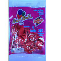 Balão Bolinha Ou Poa Festball N9 10 Pacotes C/ 25 Unid. Cada