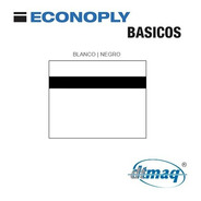 Plástico Bicapa Laserable Econoply Blanco / Negro 60x40cm