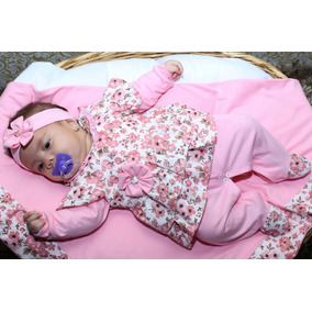 Kit Saída De Maternidade Rosa Floral - Menina - Bebê