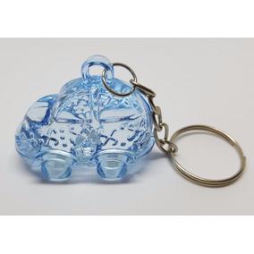 Chaveiro Acrílico Carrinho Azul Lembrancinha (25un)