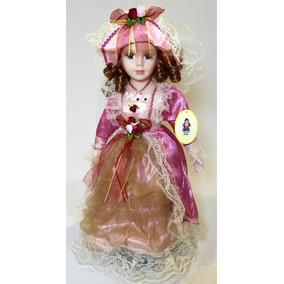 Boneca De Porcelana Estilo Vitoriana - Meu Xodó
