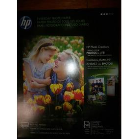 Papel Fotográfico Hp 50 Hojas 10 Paquetes Tamaño Carta