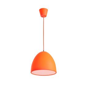Lámpara E27 25w Colgante Pantalla Campana En Color Naranja